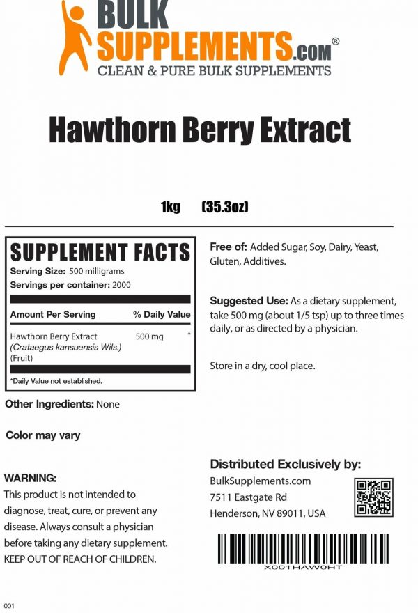 BulkSupplements.com Hawthorn Berry Extract 4