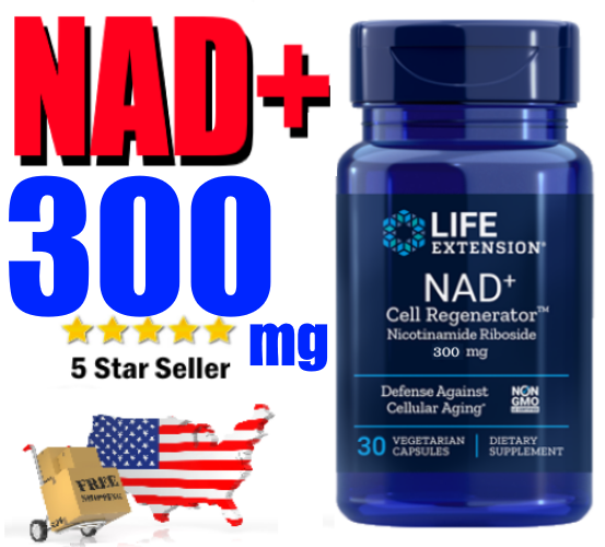 NAD+ Nicotinamide Riboside 300mg 💕 LIFE EXTENSION Cell Regenerator ⭐️ NIAGEN ⭐️