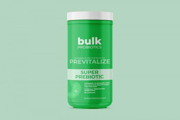 BULKPROBIOTICS Provitalize & Previtalize Probiotic + Prebiotic Weight Loss VEGAN 4