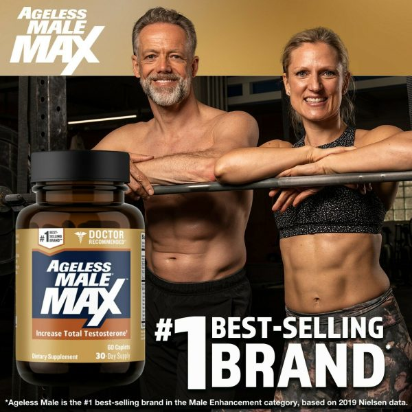 Ageless Male Max Testosterone Booster by New Vitality - 60 Caplets FREE Shipping 5