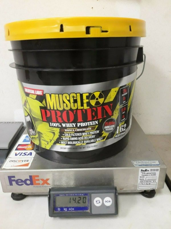Colossal labs Whey Muscle Protein powder 12LB Isolate/Blend BULK 162 Servings 9