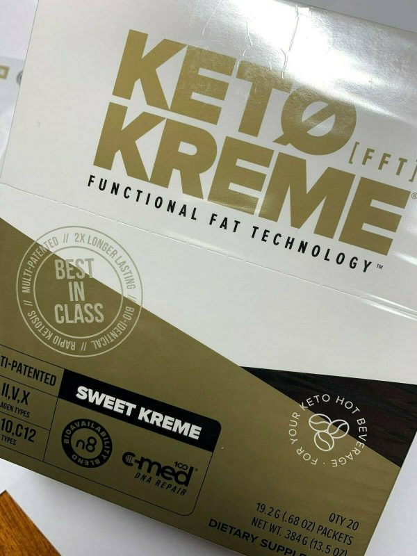 Pruvit Keto Kreme -With Functional Fat Technology (FTT) 20 Packets,BRAND NEW!! 1