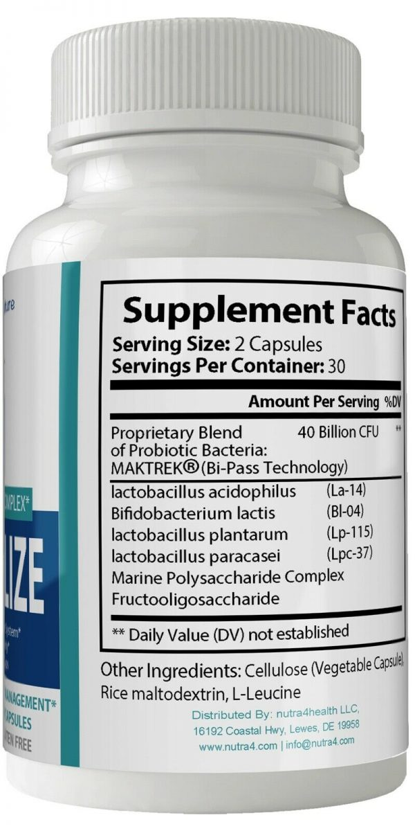 2 Bottle Pack Provitalize Probiotic Weight Management Pills ORIGINAL by n4h 2