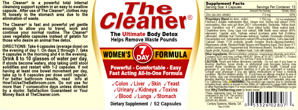 The Cleaner Total Body Detox and Colon Cleanse (All Variations) 2