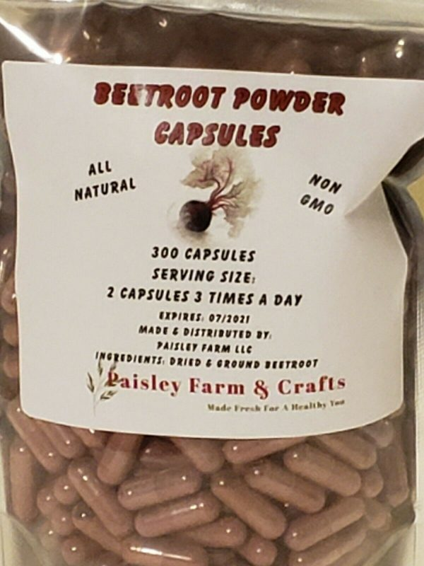 Beetroot Powder Capsules - Made Fresh On Demand! 1