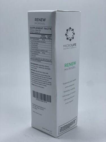 Vasayo Microlife Renew Microgel Dietary Supplement 60ml 2 oz 09/2020 1