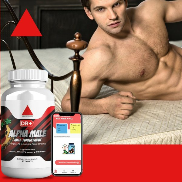 Alpha Male Testosterone Booster L Arginine, Maca, Ginseng Extract for Men 8