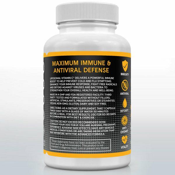 Liposomal Vitamin C 1000mg Capsules High Absorption Vitamin C Pills Supplements 3