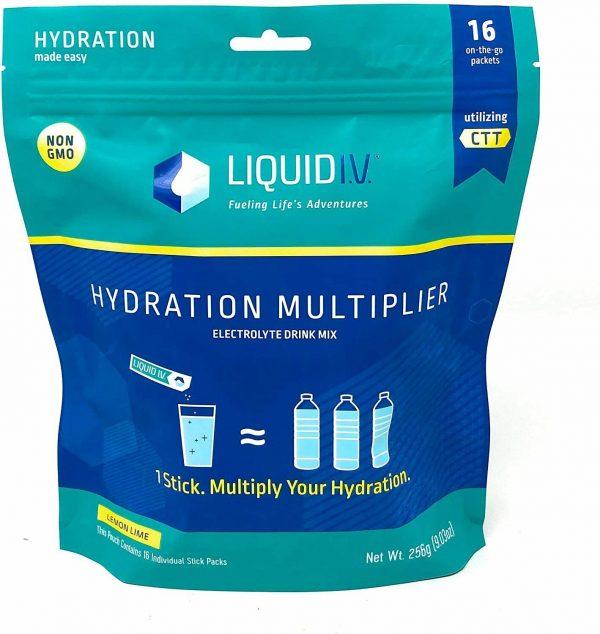 Liquid Iv, Lemon Lime Hydration Pouch, 0.56 Ounce (Pack of 16), Expiration 12/22