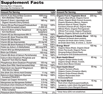NATURELO Whole Food Multivitamin for Men - 240 Capsules 3