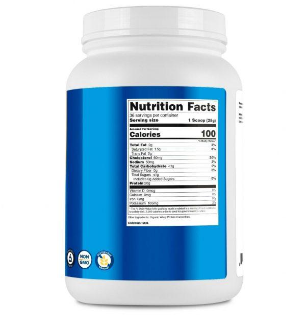 Nutricost Organic Whey Protein Powder (Unflavored) 2 LB - Non-GMO 4