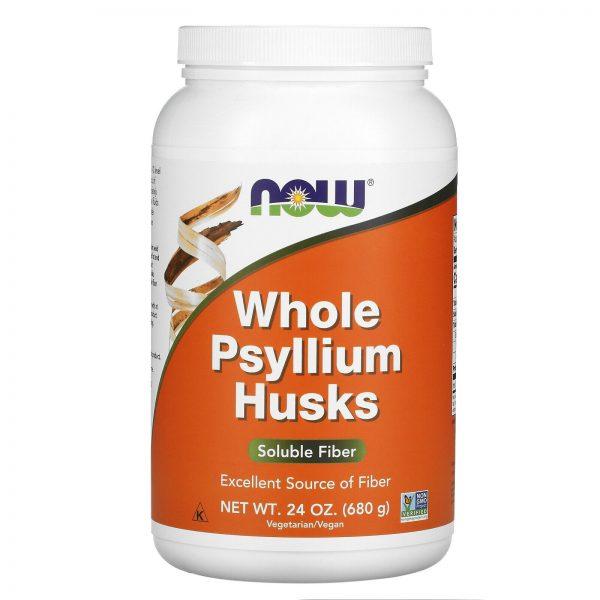 Now Foods Whole Psyllium Husks 24 oz 680 g GMP Quality Assured, Kosher, Vegan,