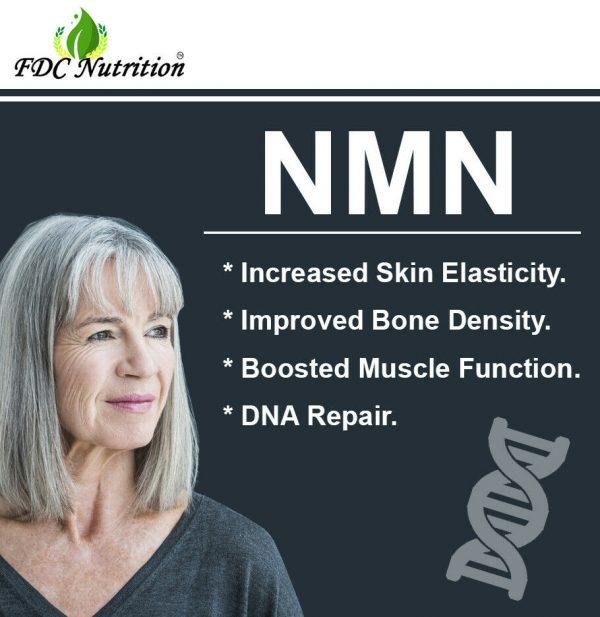 NMN β-Nicotinamide Mononucleotide Pure Potency 500mg / Serve, 60 capsules, NAD+  3