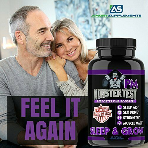 Testosterone Booster Monster Test with Tribulus for Men + Monster Test PM 2 Pack 11