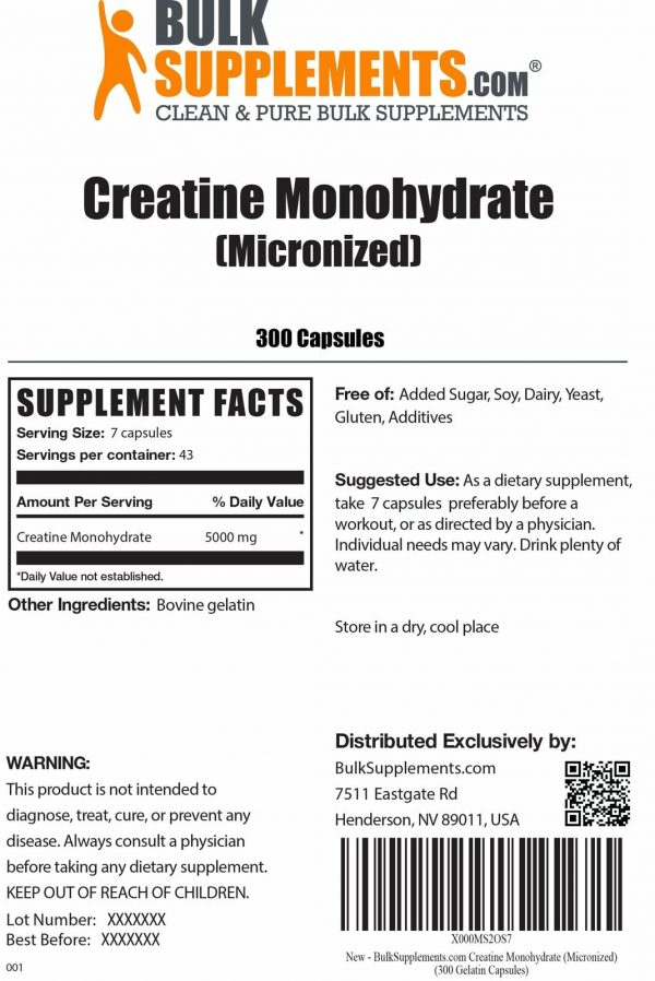 BulkSupplements.com Creatine Monohydrate (Micronized) 9