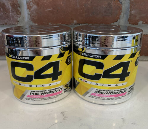 C4 The Original Pre Explosive Workout Pink Lemonade, 60 total Servings