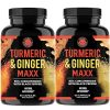 All Natural Turmeric Ginger Maxx, Reduce Anti Inflammation and Joint Pain, 2-PK