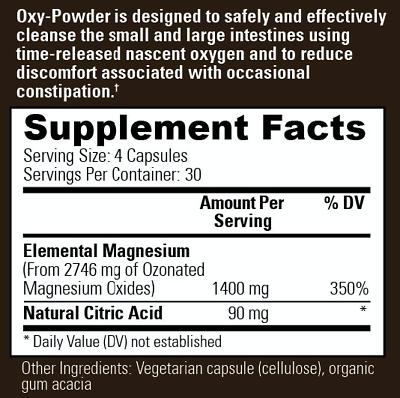 Oxy-Powder Colon Cleanser & Natural Laxative Overnight Constipation Relief Pills 1