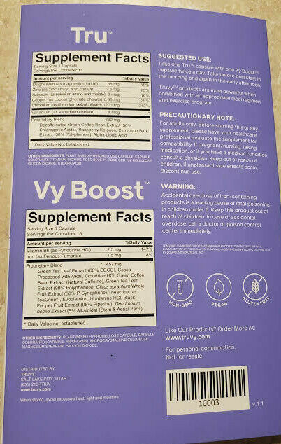 TruVision Health TruFix & TruControl Weight Loss 15 Day BOOST FAST-FREE SHIPPING 6