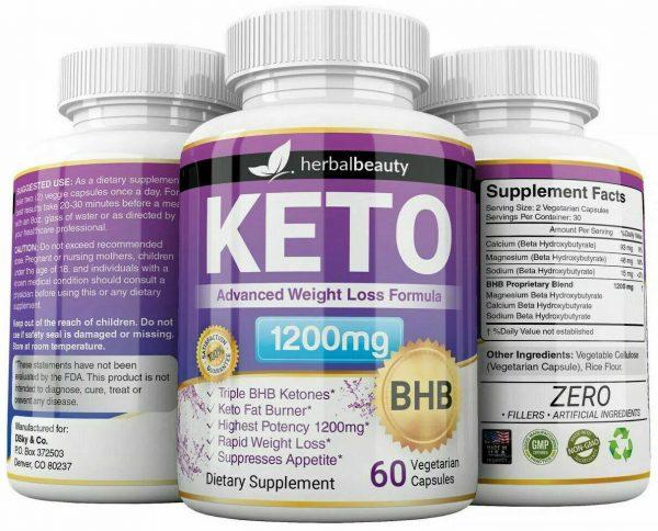 Keto Weight Loss Slim Pills Advanced BHB Fat Burner 1200mg PURE Keto Supplements 1