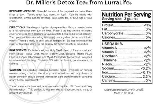 Dr. Miller's Original Detox Weight Loss Tea -24 Pack- Fast Shipping. 1