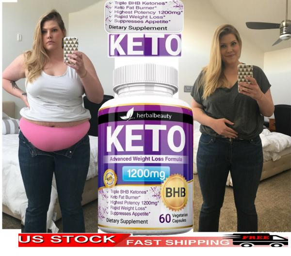 Keto Weight Loss Slim Pills Advanced BHB Fat Burner 1200mg PURE Keto Supplements