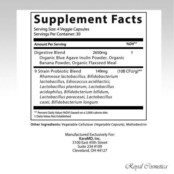 GutBio Align Prebiotics & Postbiotics Digestive Supplement 120 Caps by KaraMD 3