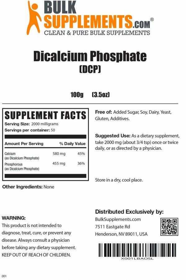 BulkSupplements.com Dicalcium Phosphate (DCP) 1