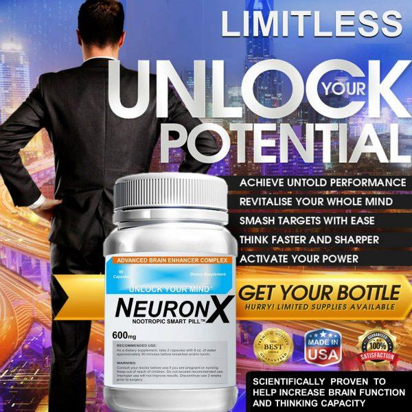 NEURONX LIMITLESS PILL CEREBRAL ENHANCEMENT COMPLEX  30 CAPS *New Formula* 1
