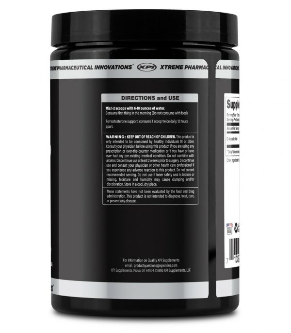 XPI Raw D-Aspartic Acid Powder 300 Grams, 100 Servings - Testosterone Support 2