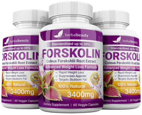 3 x Herbal Beauty FORSKOLIN 3400mg Maximum Strength RAPID RESULTS Pure Extract 11