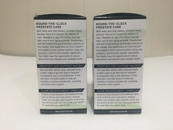 "2 New Boxed ""Force Factor"" Prostate Exclusive Flow Enhancement Complex 60X2=120 2"