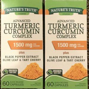 2 Nature's Truth Turmeric Curcumin Quick Release Capsules 1500 mg 60 ea Exp 9/23