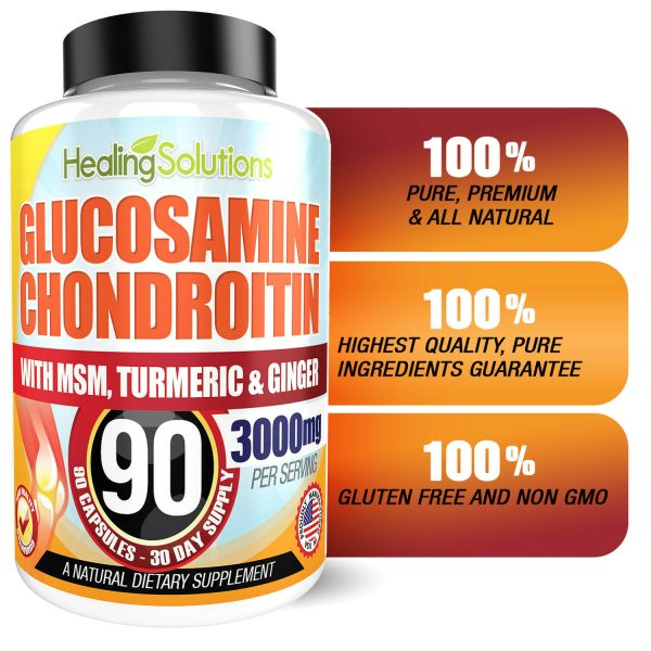 Glucosamine Chondroitin with COLLAGEN TYPE II 2 MSM Turmeric Ginger 3000MG 90ct 4