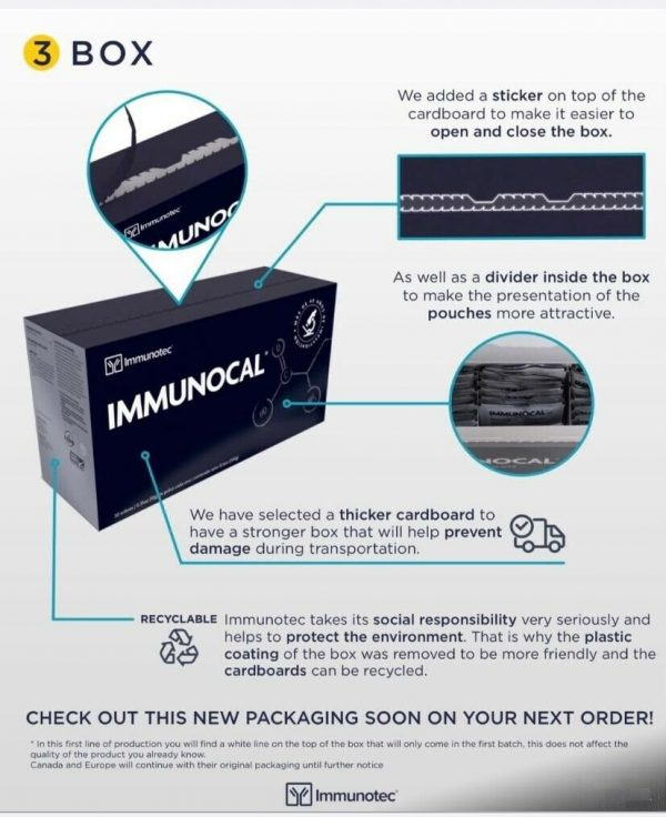 "IMMUNOCAL PLATINUM 2 BOXES by IMMUNOTEC ""GLUTATHIONE PRECURSOR"" FREE SHIPPING! 1"