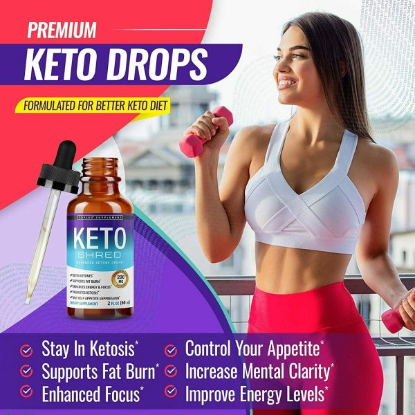 Keto Diet Shred Drops (2 PACK) Ketosis Weight Loss Supplement Fat Burn Carb Bloc 4