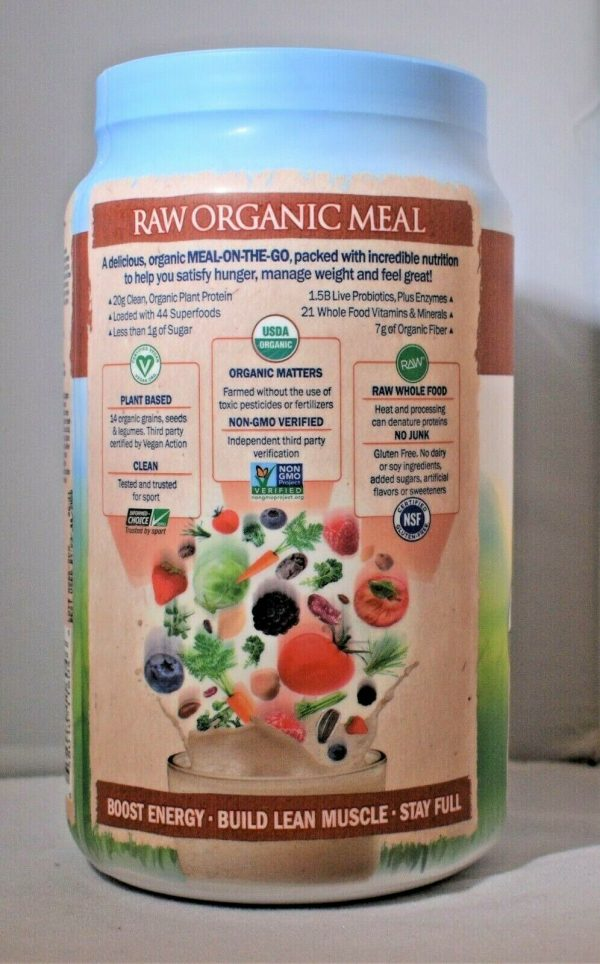 Lot Of (2) Garden Of Life Raw Meal Vanilla Spiced Chai Vegan Meal Replacement 3