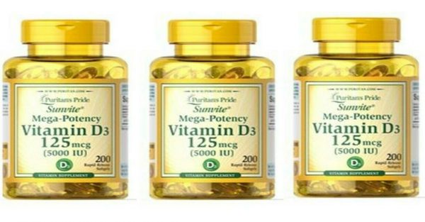Vitamin D3 D 5000IU 12X200=2400 Softgel Mega-Potency Max Strength USA 2022 Whole 6