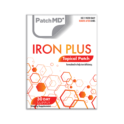 PatchMD Iron Plus Topical Patch vitamin Supplement 60 Day BEWARE OF FAKES 2