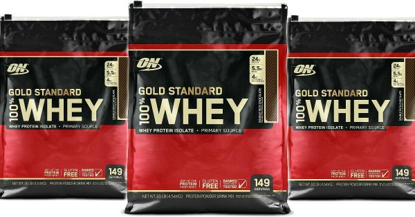 OPTIMUM NUTRITION 100% Gold Standard Whey Protein Double Rich Chocolate 10 lb  1