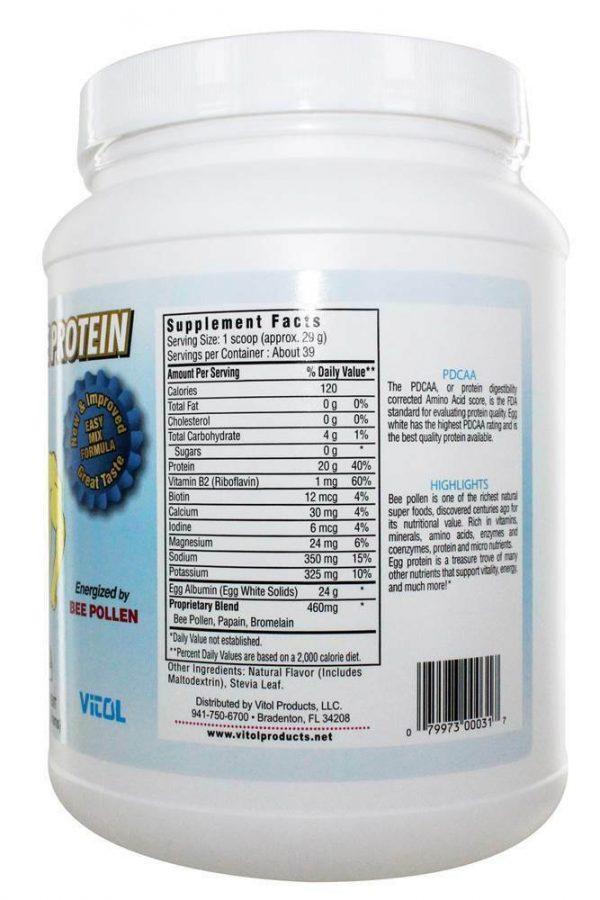 Vitol - 100% Egg White Protein Ice Cream Vanilla - 40 oz. 1