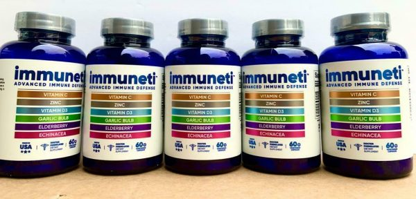 5 Pack IMMUNETI Advanced Immune Defense 6 in 1 - INCLUDES VITAMIN D3 - FREE SHIP 1