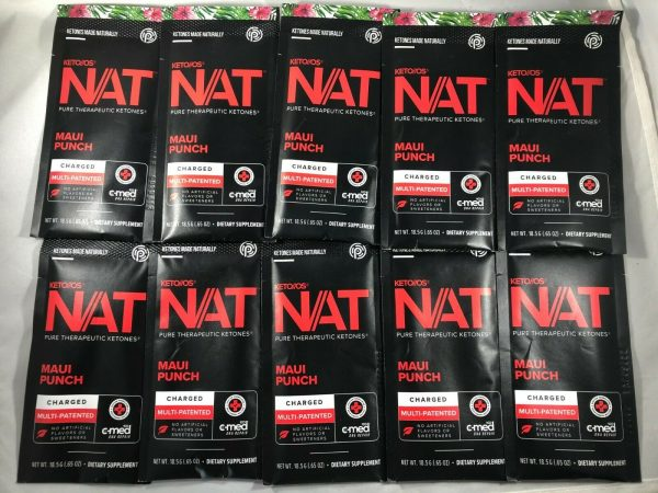 New Pruvit Keto NAT Maui Punch Charged 10 Pack Drink Packets** 1