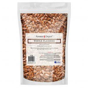 1 lb. Brown Whole Flax Seeds Omega-3 Non-GMO Linaza Raw Flaxseed Kosher 1 Libra 1