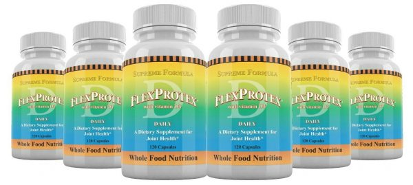 FlexProtex D Herbal Joint Relief Supplement Chondroitin Hyaluronic Acid 6 Pack