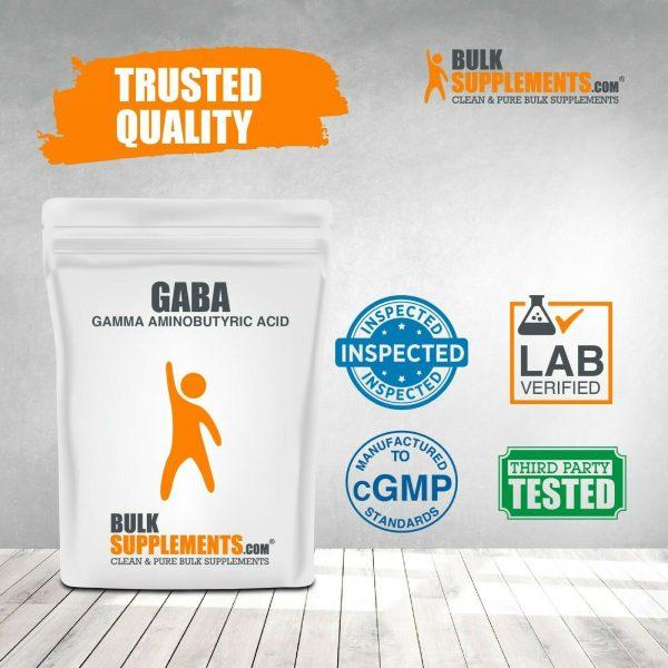 BulkSupplements.com Gamma Aminobutyric Acid (GABA) 750mg Powder - Focus Aid 7