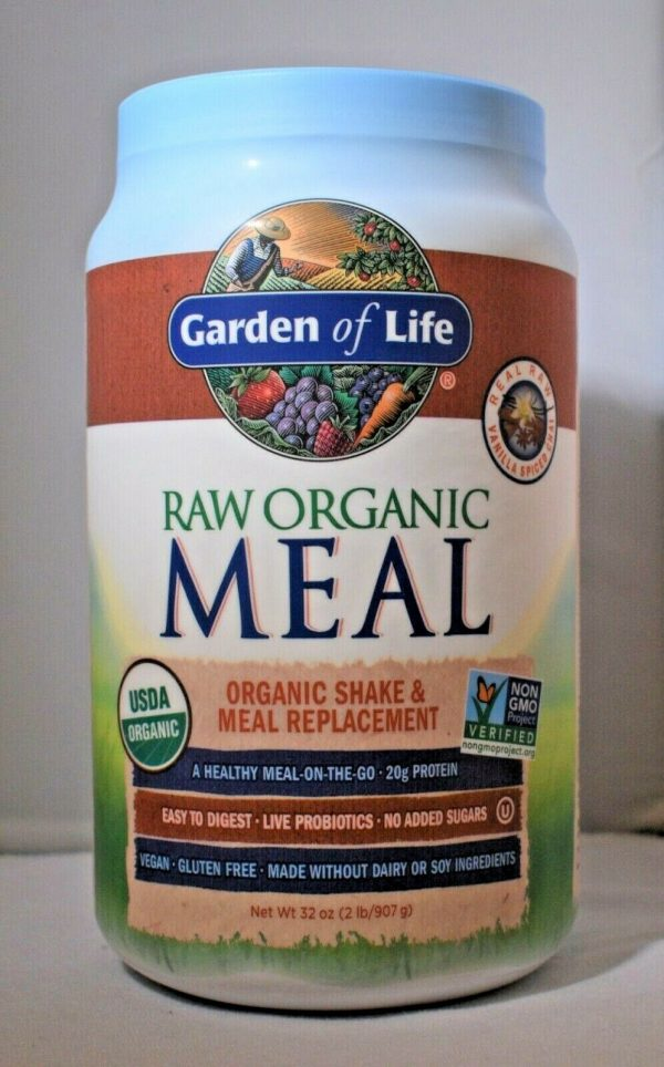 Lot Of (2) Garden Of Life Raw Meal Vanilla Spiced Chai Vegan Meal Replacement 1