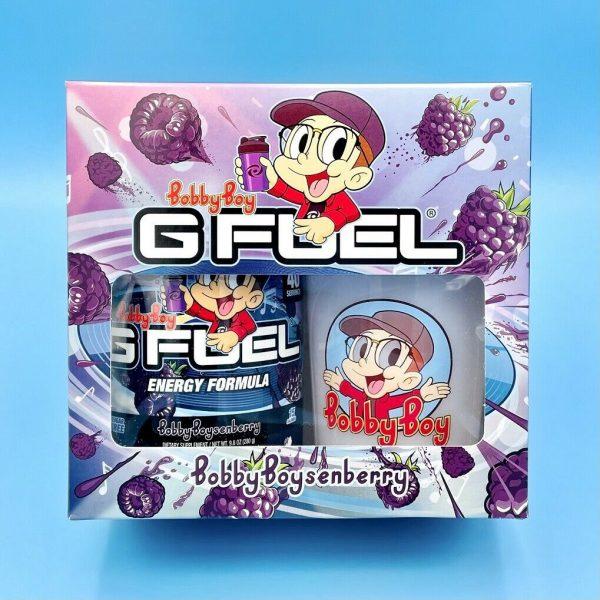 G Fuel Logic Bobby Boysenberry Collector's Box Tub + Shaker Cup Energy Formula