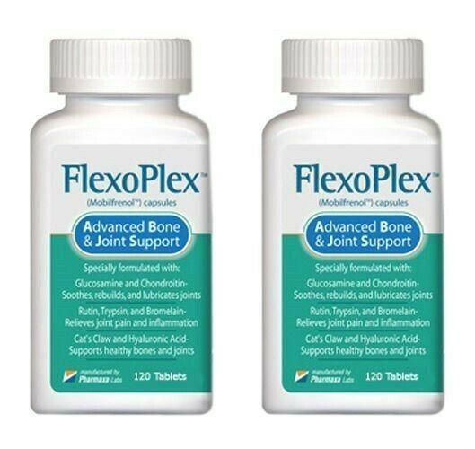 2 Btl Flexoplex Powerful Formula Naturally Rebuilds Lubricates & Soothes Joints