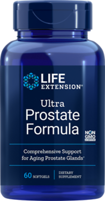 3X $21.75 Life Extension Ultra Prostate Formula Natural FRESH PRODUCT 60 gels